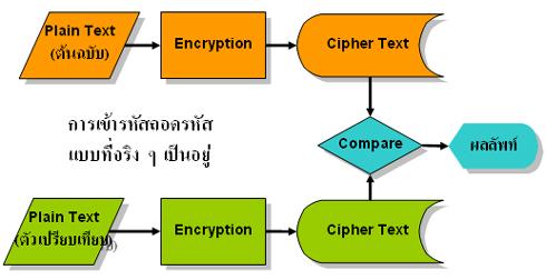 การเข้ารหัสถอดรหัสแบบที่จริง ๆ เป็นอยู่